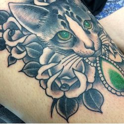 Jed Harwood Tattoo Workshop Cat