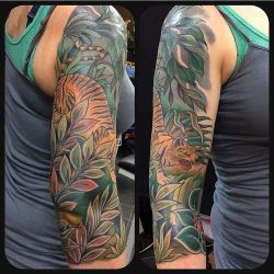 Jed Harwood Tattoo Jungle Workshop Tiger Sleeve
