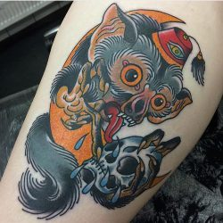 Jed Harwood Tattoo Workshop Monkey Fez Skull