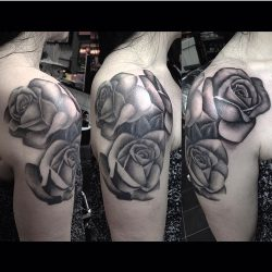 Les Makepeace Tattoo Workshop Roses Black and Grey