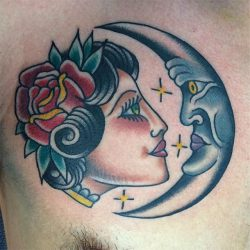 lady and moon
